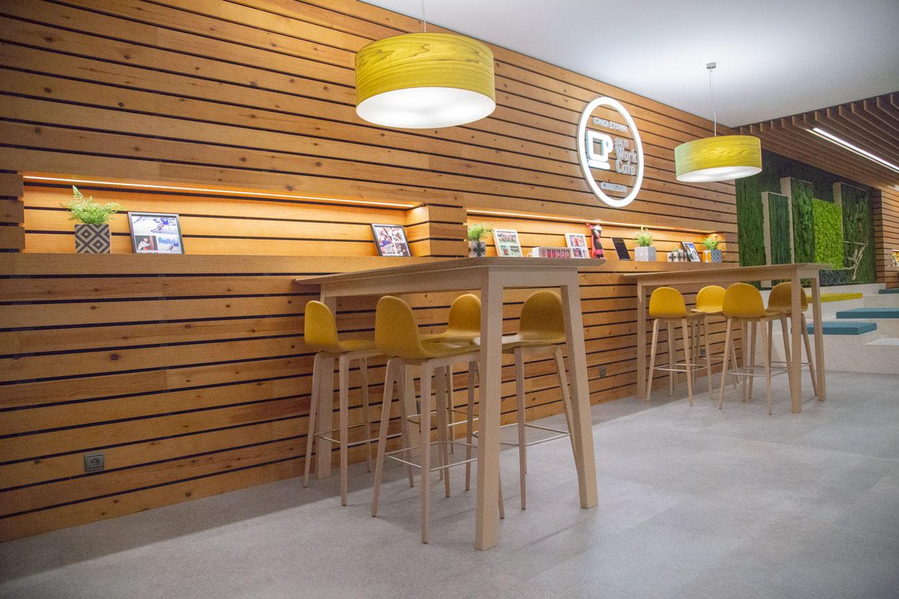 Reforma Salto Work Cafe interior, Carpintería Apatta Aroztegia